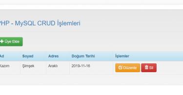 PDO MySQL Insert Update Delete Select