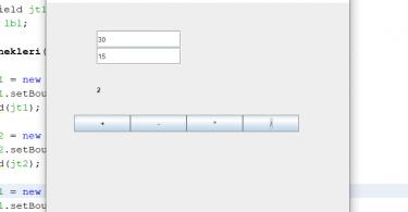 Java GUI Basit Hesap Makinesi