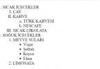 HTML Liste Örnekleri