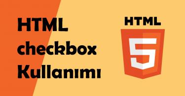 html checkbox kullanımı