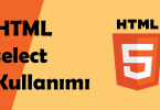 html select option kullanımı