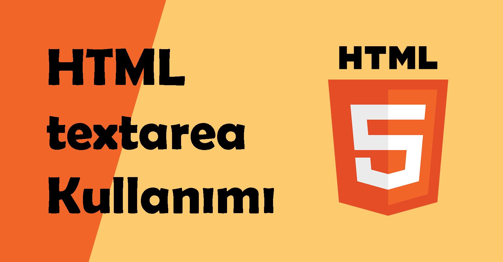 html textarea kullanımı