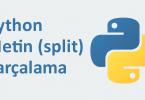 python string split kullanımı