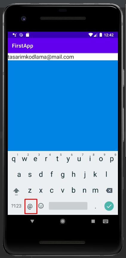 Android EditText Kullanımı