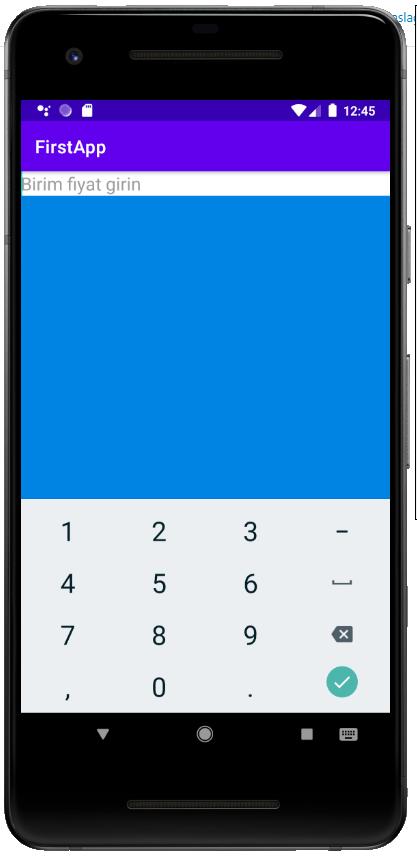 Android EditText Örnekleri
