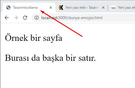 HTML head örnekleri